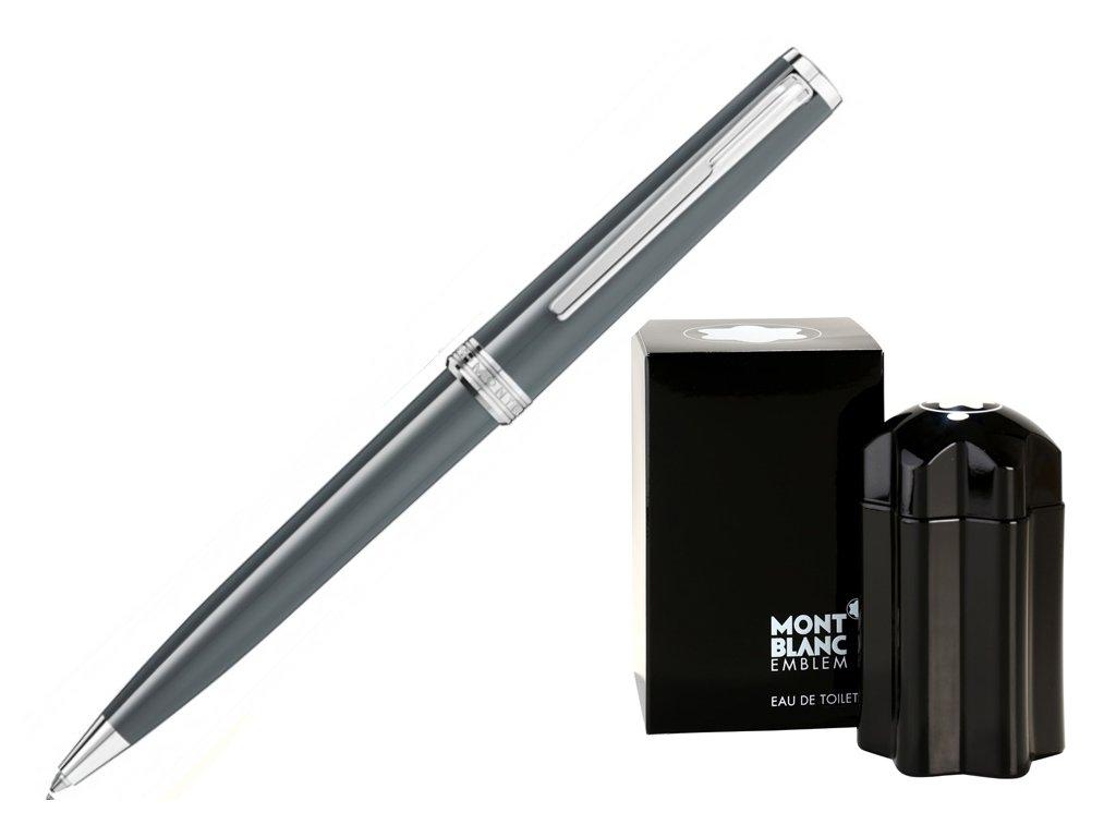 Kuličkové pero Montblanc PIX Grey 116578  + toaletní voda Montblanc v hodnotě 520Kč