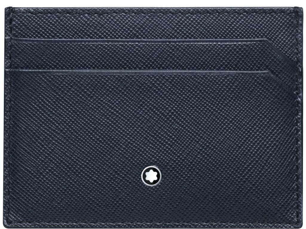 Pouzdro na kreditní karty Montblanc Sartorial Indigo Flannel 116339