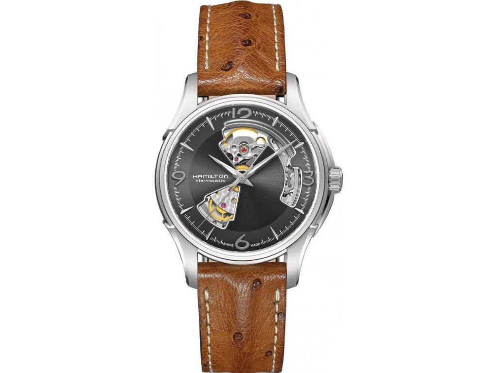 Hamilton Jazzmaster Open Heart Auto H32565585 - HELVETIA hodinky šperky e887e637726