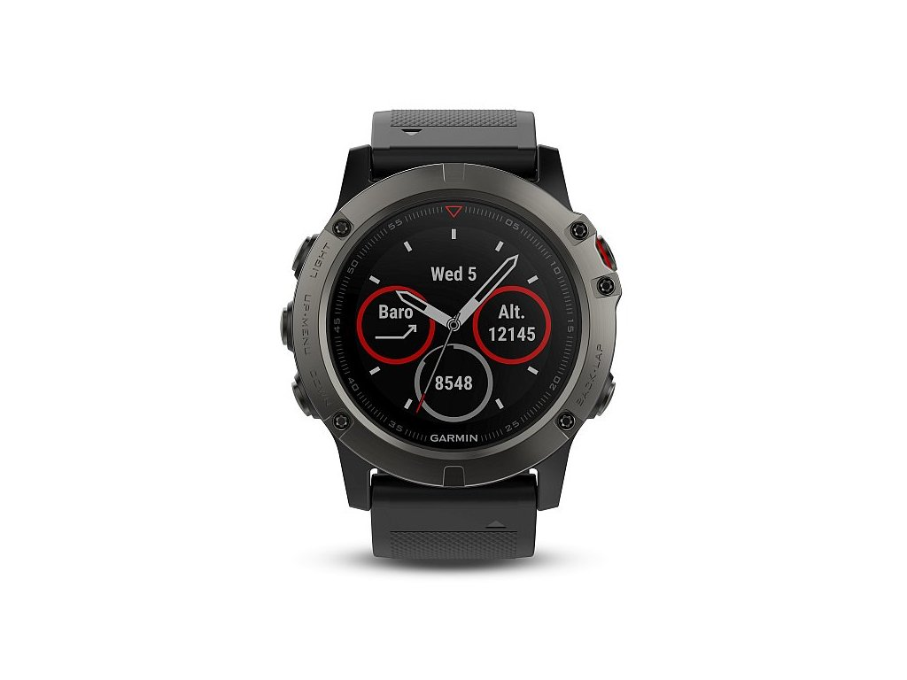 Garmin Fenix5X Sapphire Gray Optic, Black band 010-01733-01