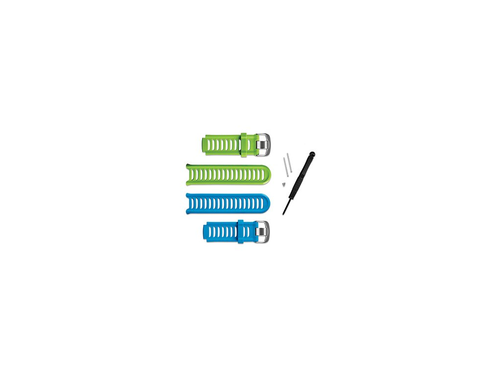 Garmin řemínky pro Forerunner 910 XT, zelený a modrý