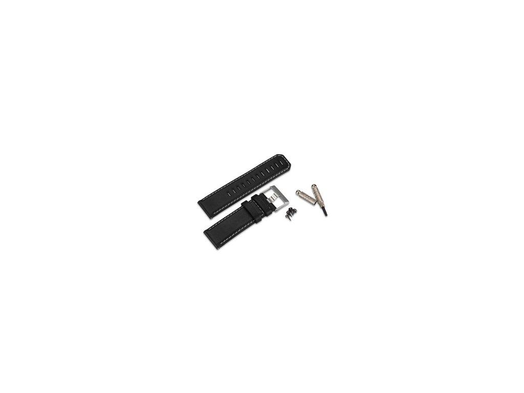 Garmin řemínek pro fenix/fenix2/tactix/quatix/D2, kožený, černý