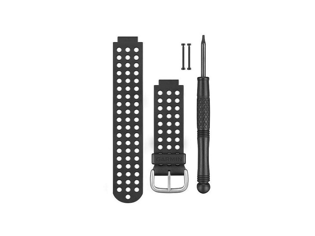 Garmin řemínek pro Approach S5/S6 (Forerunner 220/620), černo/bílý