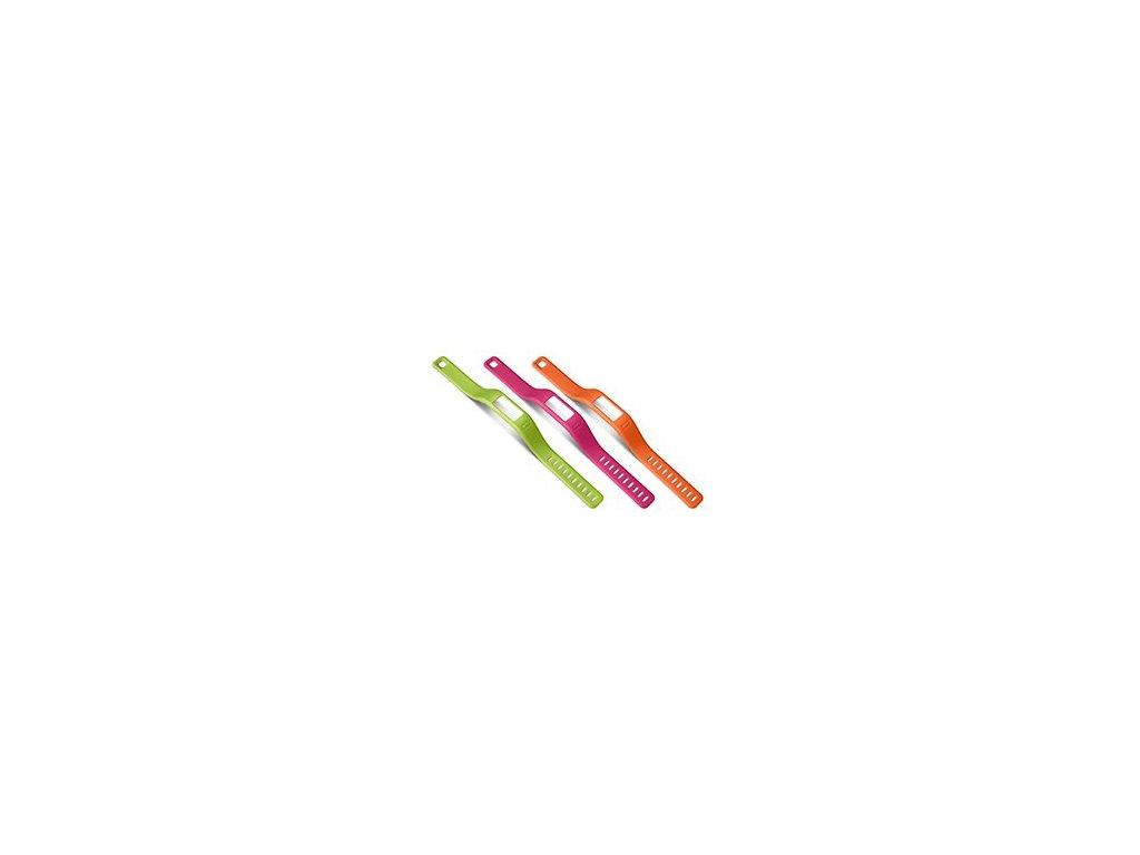 Garmin řemínky pro vivofit (3 ks.) orange, pink,green (malý průměr)