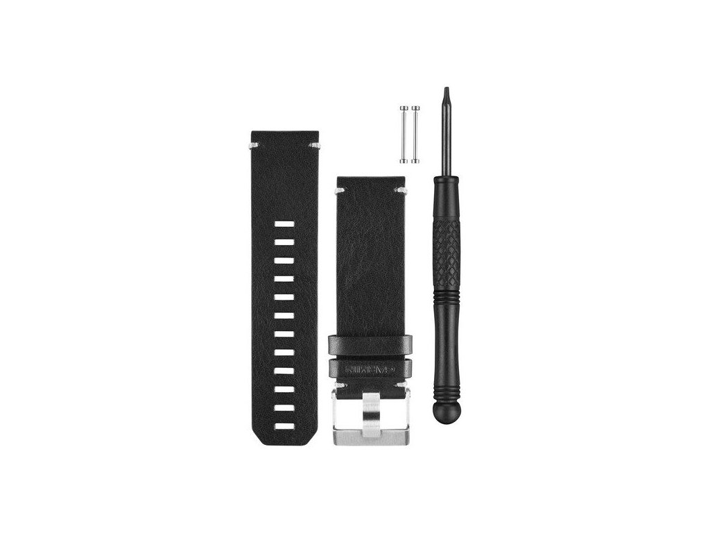 Garmin řemínek pro fenix3 (fenix/fenix2/tactix/quatix/D2), kožený, černý