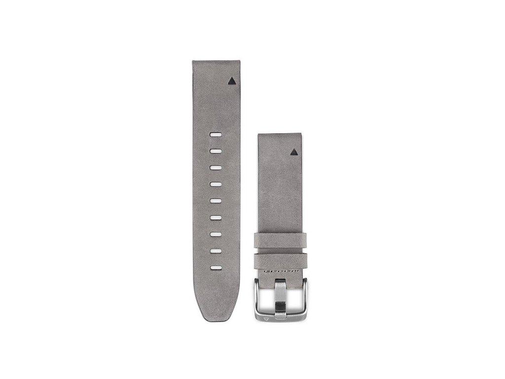 Garmin řemínek pro fenix5S - QuickFit 20, kožený, šedý semiš