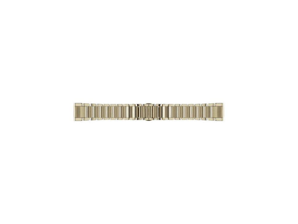 Garmin řemínek pro fenix5S - QuickFit 20, ocelový, Goldtone