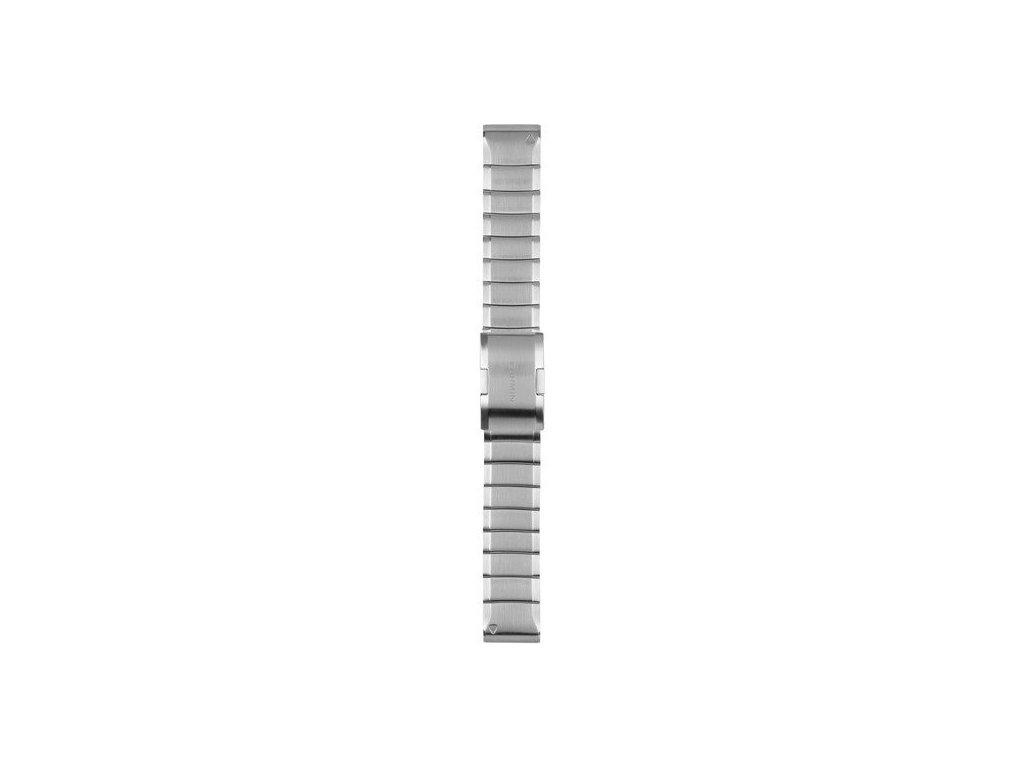 Garmin řemínek pro fenix5/Quatix5/Forerunner 935 - QuickFit 22, ocelový, světle šedý