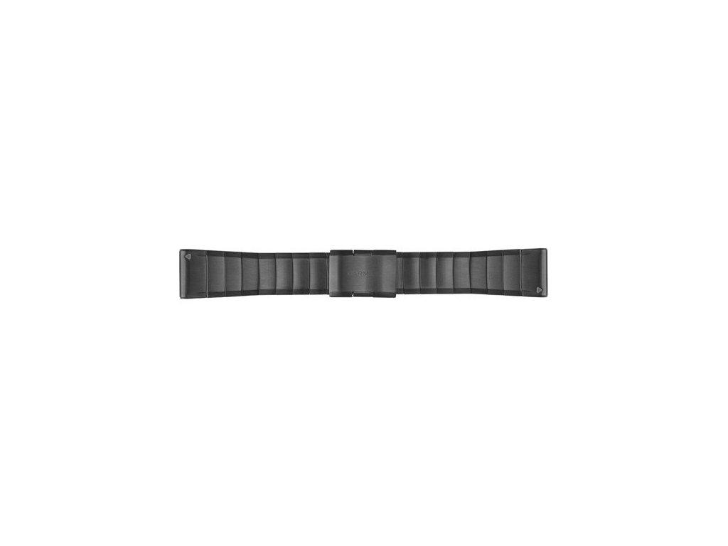 Garmin řemínek pro fenix5X - QuickFit 26, ocelový, šedý