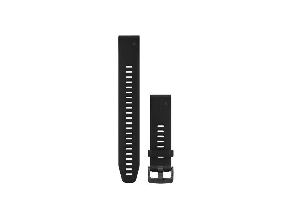 Řemínek pro fenix5S Plus - QuickFit 20, dlouhý, černý