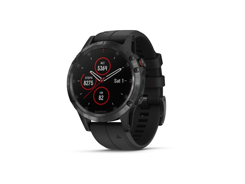 Garmin Fenix5 Plus Sapphire Black, Black Band, Performer TRI Bundle