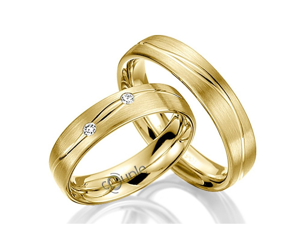 Snubní prsten Couple Protaras ze žlutého zlata
