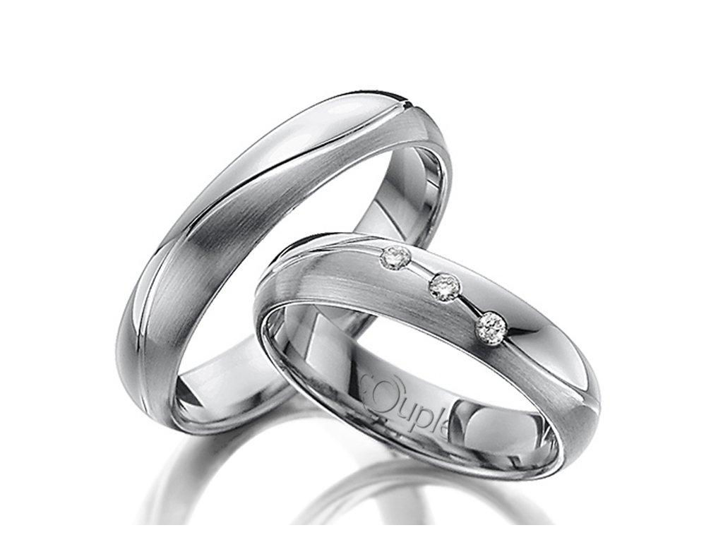 Snubní prsten Couple Varadero z bílého zlata