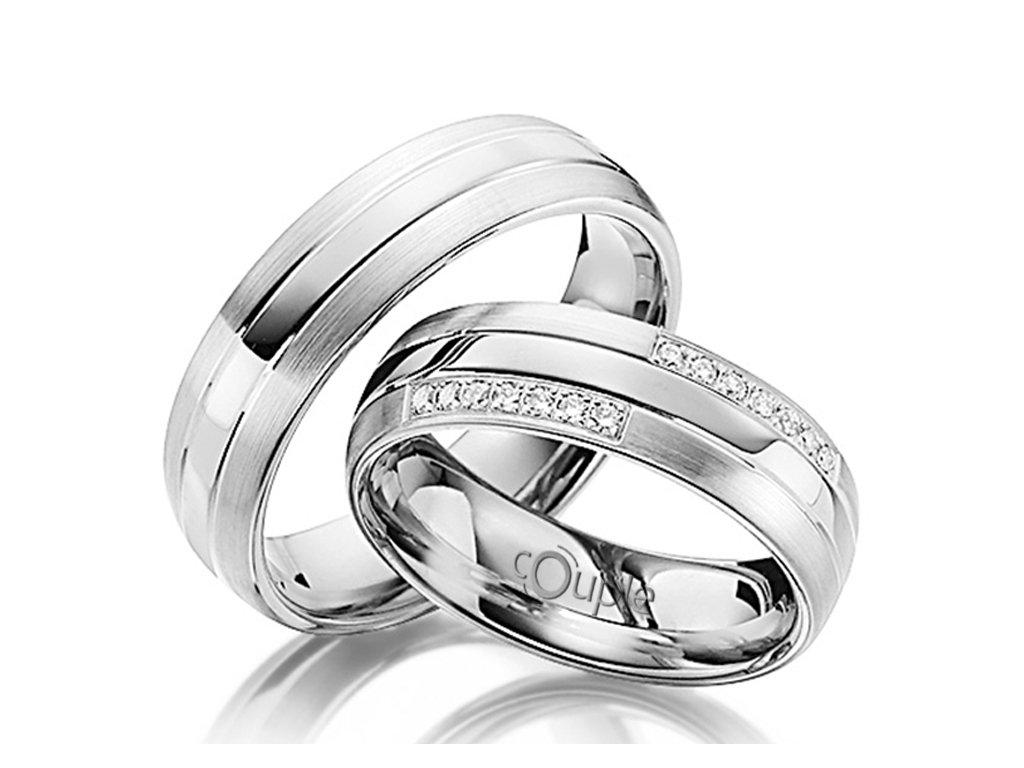 Snubní prsten Couple Grondos z bílého zlata