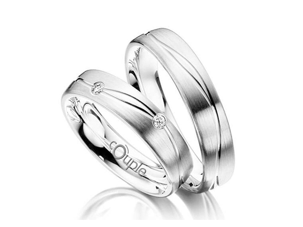 Snubní prsten Couple Protaras z bílého zlata