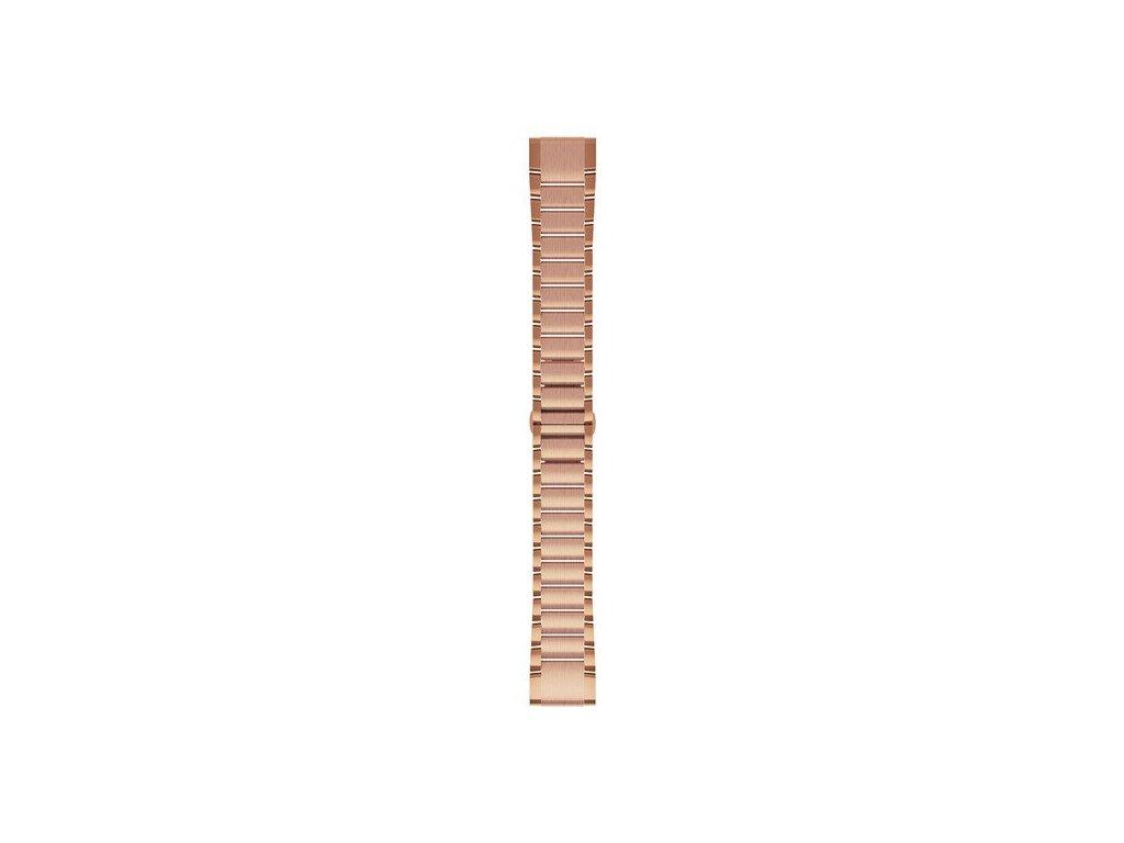 Garmin řemínek pro fenix5S Plus - QuickFit 20, kovový, Rose Gold