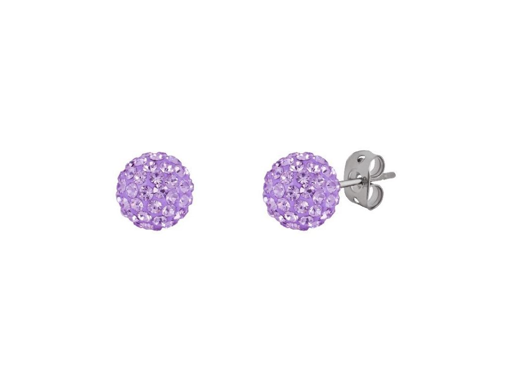 Tresor Paris 8mm Lilac Medium BonBon Stud Earrings 166638 p