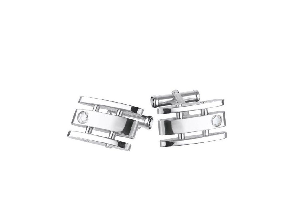 Cuff Links rectangular with skeletted 3 rings motif 103144