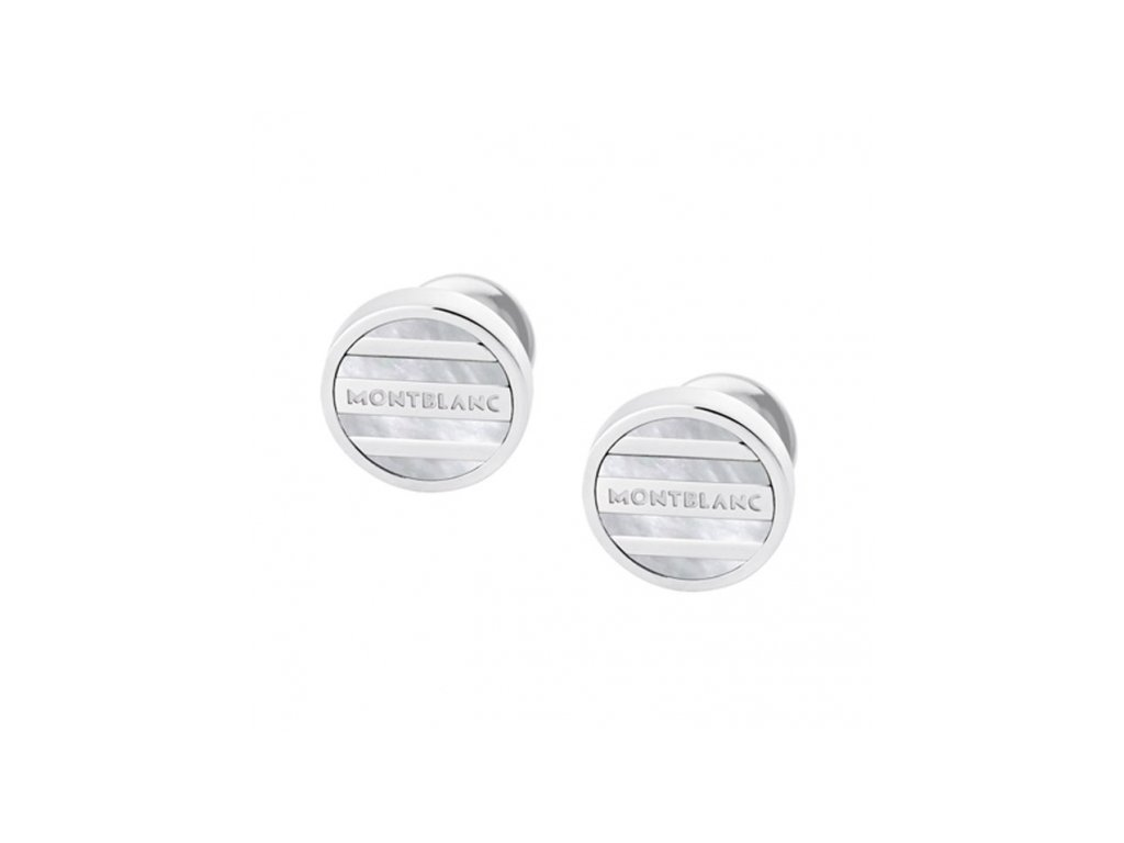 montblanc accessories cuff links silver 107046