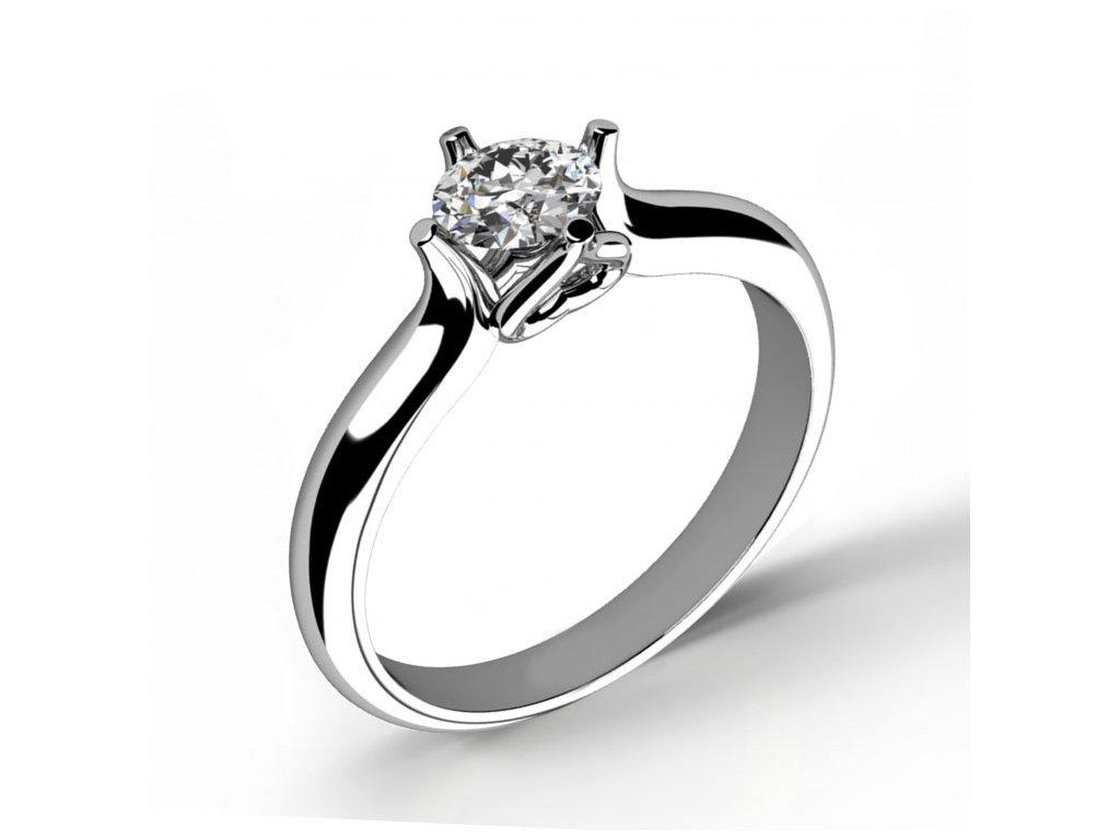 Prsten z bílého zlata 686-4130