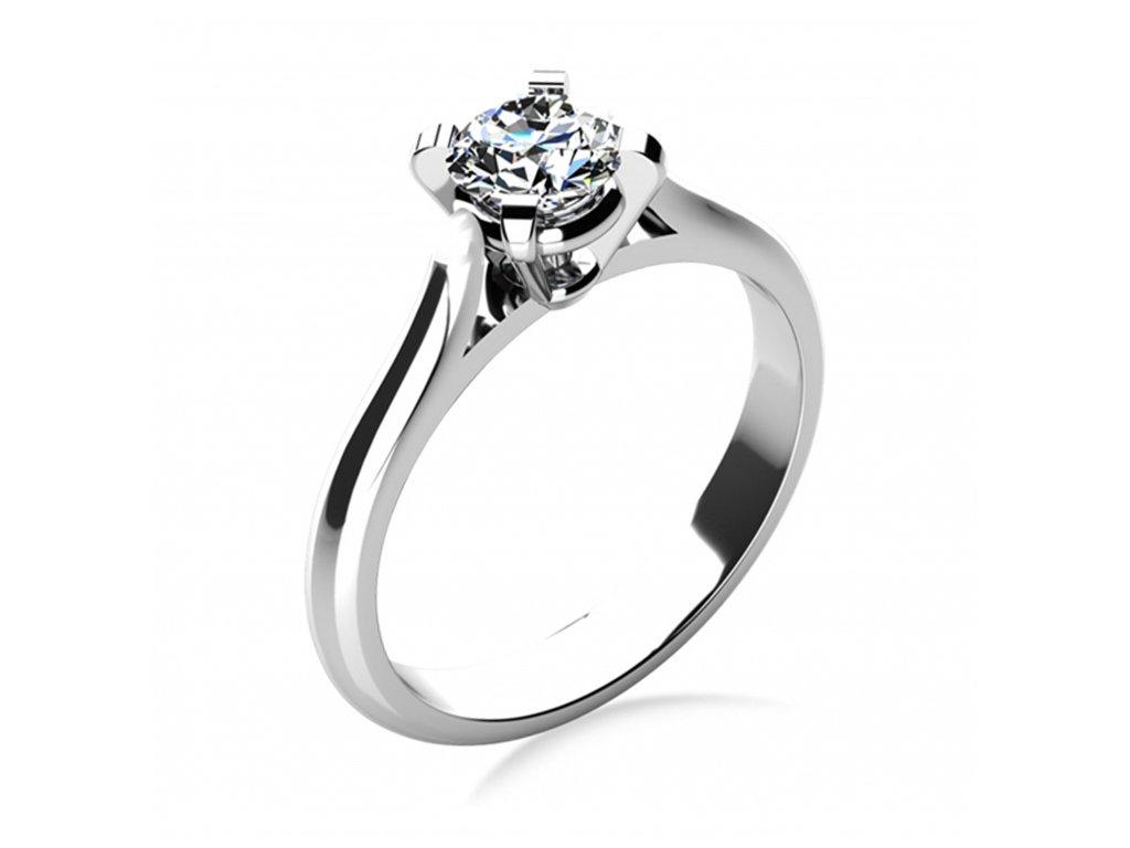 Prsten z bílého zlata 686-4088