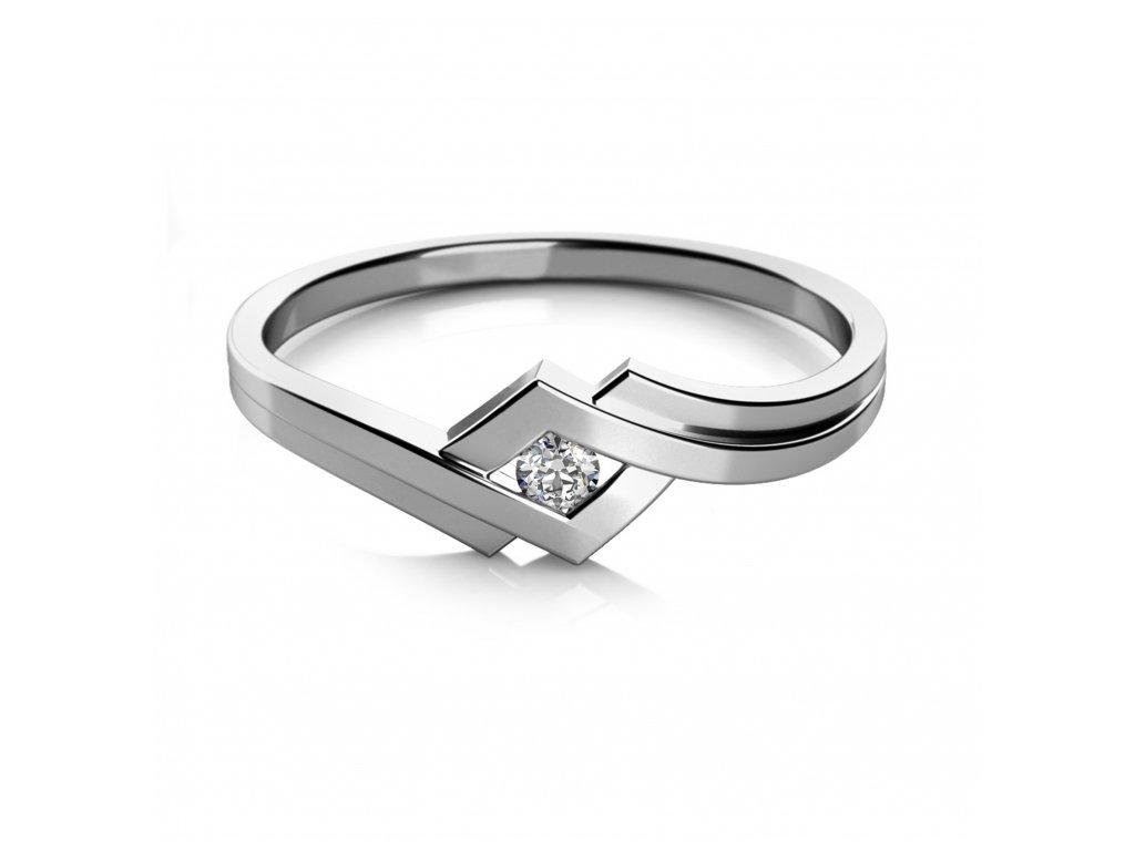 Prsten z bílého zlata 686-0132