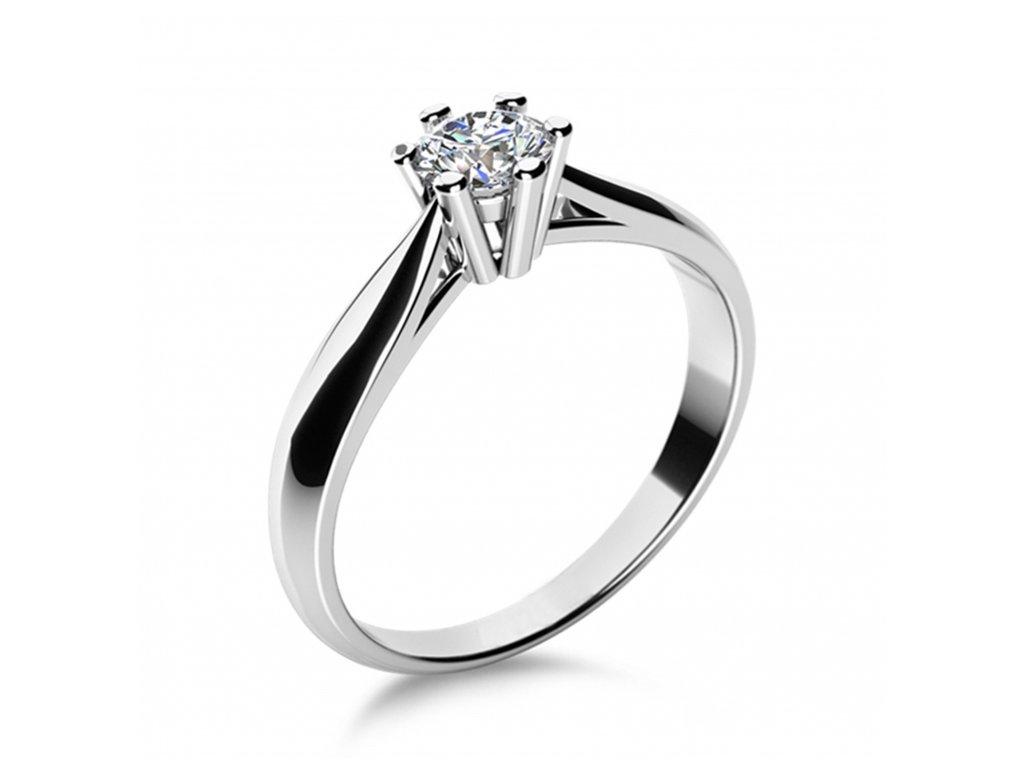 Prsten z bílého zlata 686-4041