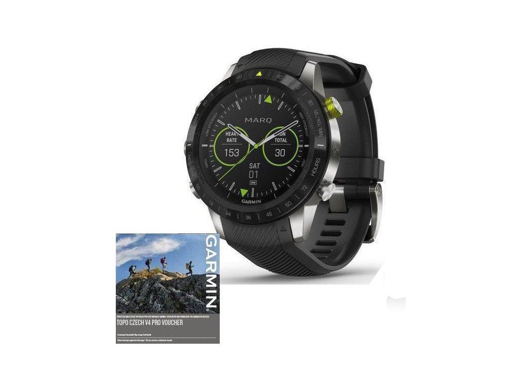 Garmin MARQ Athlete 010-02006-16 Premium  + možnost výměny do 90 dní + bezdrátová sluchátka Niceboy HIVE Podsie 2021 v hodnotě 999 Kč