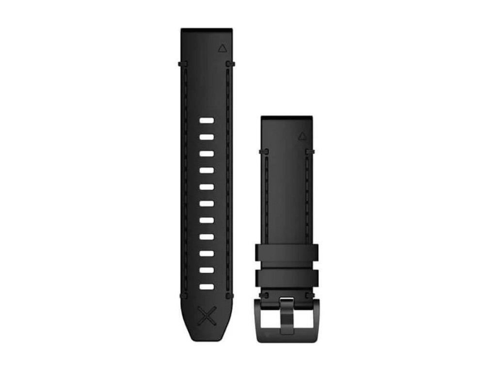 Garmin řemínek pro MARQ - QuickFit 22, kožený, černý