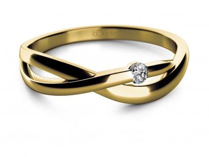 Zlatý dámský prsten Odette 6810667  + možnost výměny do 90 dní