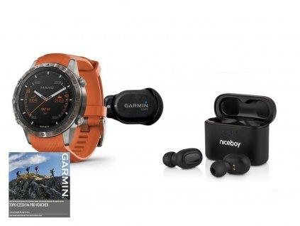 Garmin MARQ Adventurer Orange Bundle 010-02567-31 Premium + externí snímač teploty  + možnost výměny do 90 dní + bezdrátová sluchátka Niceboy HIVE Podsie 2021 v hodnotě 999 Kč