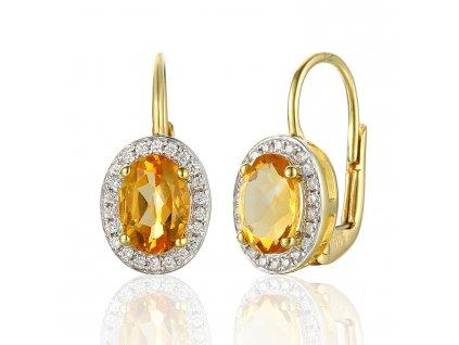 Zlaté dámské náušnice Gwen 3830140  + možnost výměny do 90 dní