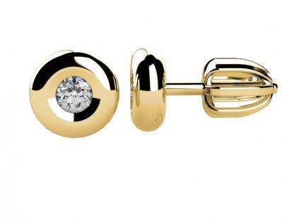 Zlaté dámské náušnice Amy 6830612  + možnost výměny do 90 dní