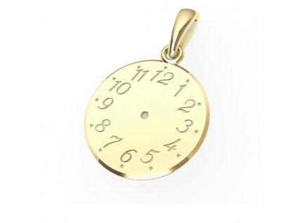 Zlatý přívěsek Křticí hodiny 6628002  + možnost výměny do 90 dní