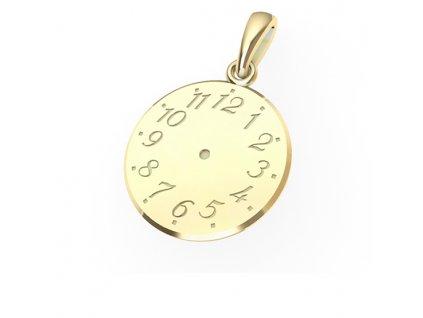 Zlatý přívěsek Křticí hodiny 6628001  + možnost výměny do 90 dní