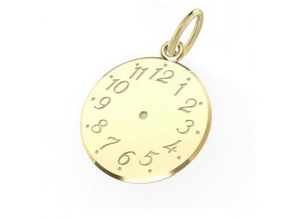 Zlatý přívěsek Křticí hodiny 3220042  + možnost výměny do 90 dní