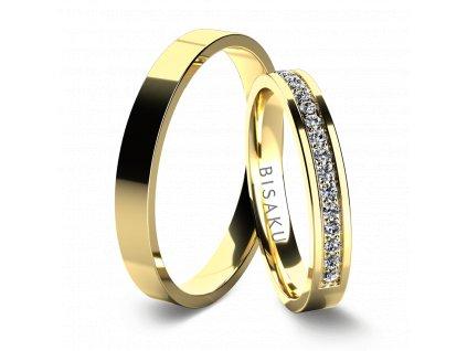 snubni prsteny zlute zlato Maude
