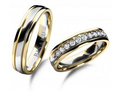 snubni prsteny zlute bile zlato Harmony