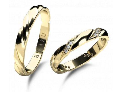 snubni prsteny zlute zlato Amaryllis