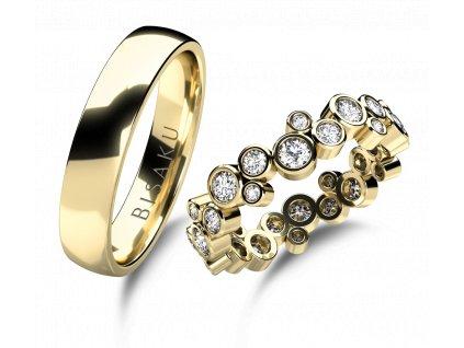 snubni prsteny zlute zlato Elias