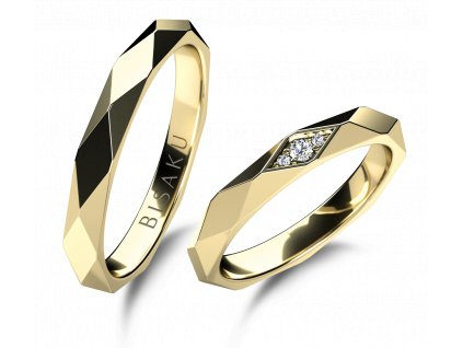 snubni prsteny zlute zlato Quadrum