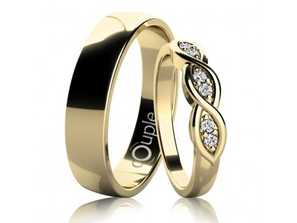 Snubní prsten Couple Clark
