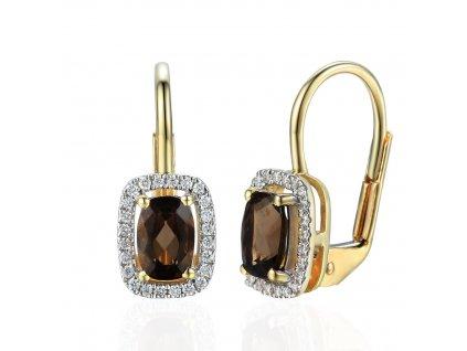 Zlaté dámské náušnice Solange 3831298  + možnost výměny do 90 dní
