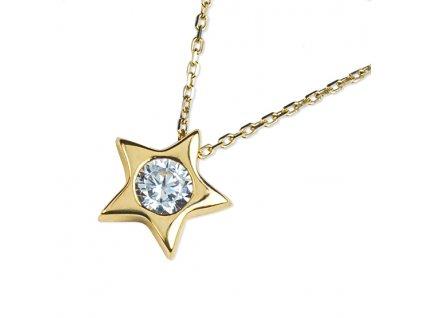 Zlatý dámský náhrdelník Jollie 1243015-0-45-1  + možnost výměny do 90 dní
