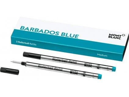 Náplň Montblanc pro rollerball 128237 M Barbados Blue