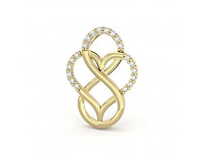 Zlatý dámský přívěsek Love 6620262-0-0-1  + možnost výměny do 90 dní