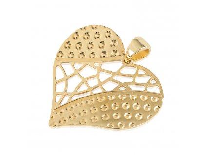 Zlatý dámský přívěsek Srdce 1420861-0-0-0  + možnost výměny do 90 dní