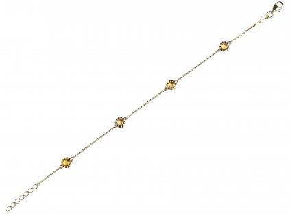 Zlatý náramek Leslie 1441367-0-19-80  + možnost výměny do 90 dní