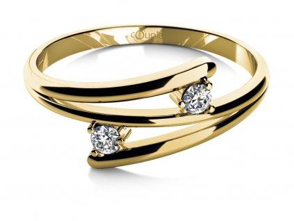 Zlatý dámský prsten Eveline 6810655  + možnost výměny do 90 dní
