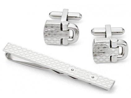 Manžetové knoflíčky Fossil + spona na kravatu JF01521040